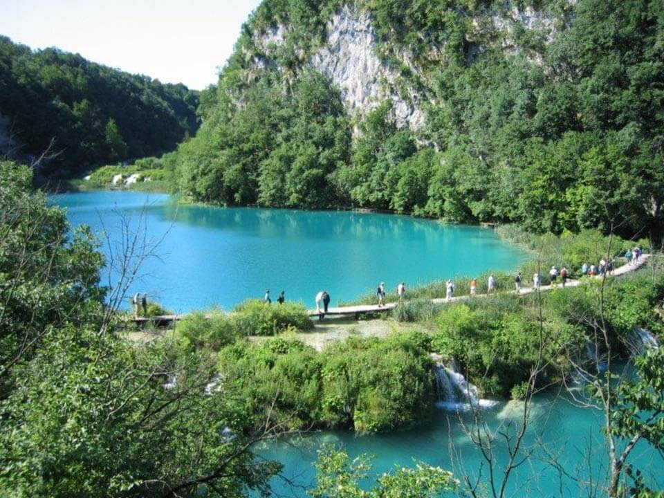 Plitvicei kiránduláson készült fénykép: 16 tó egyike
