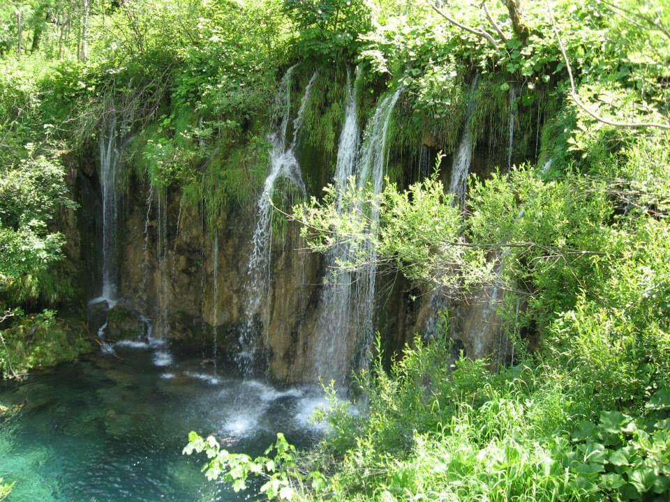 Plitvicei kiránduláson készült fénykép: Vízesések hatalmas magasságokból